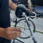 preparing the bike frame for assembly