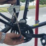 Installing bike parts