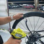 Inflating bike tires